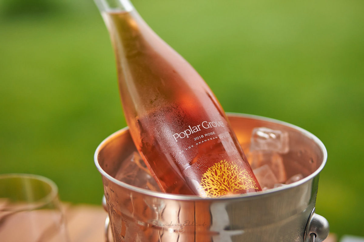 Poplar grove rose wine by penticton photographer