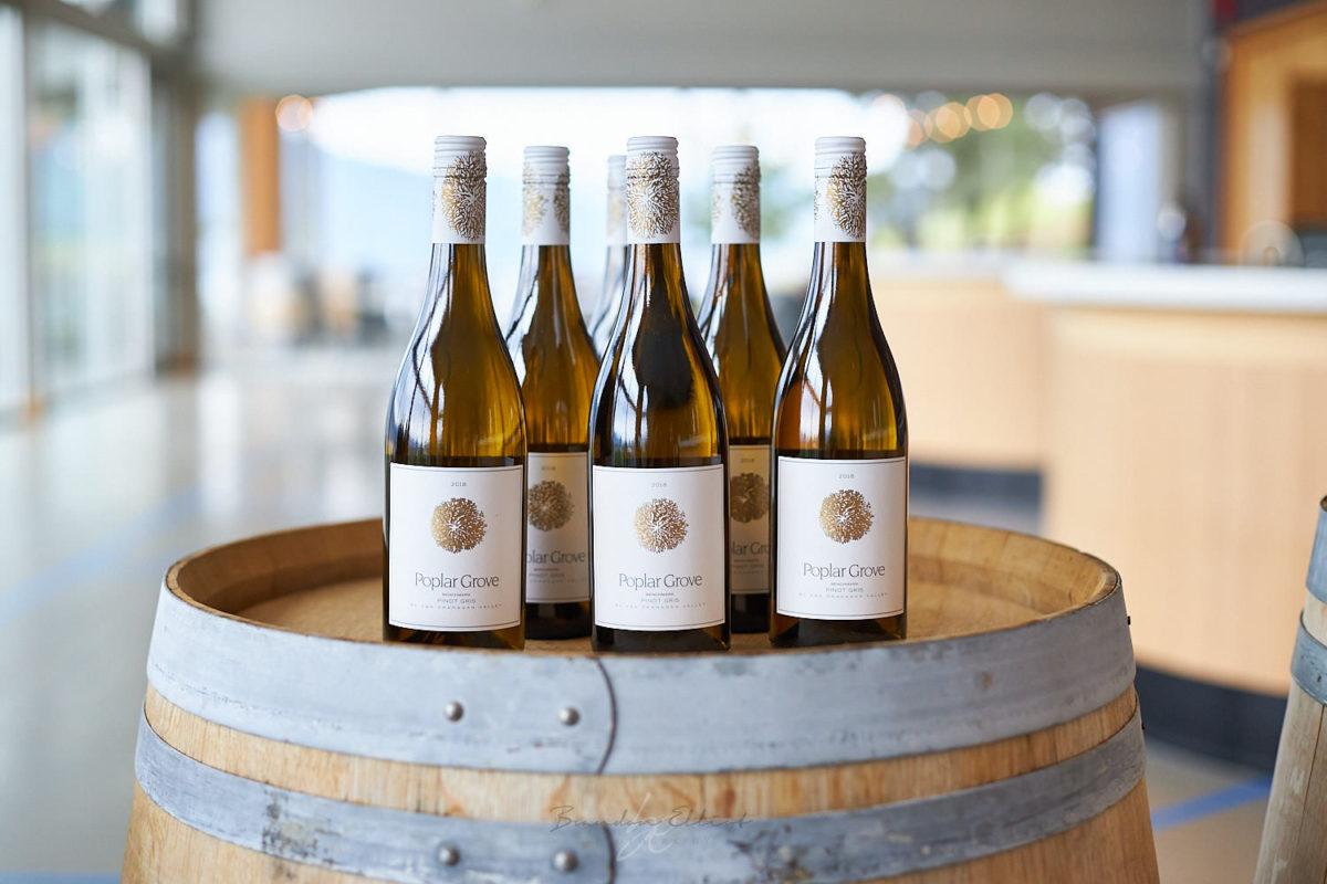 white wine bottle shot by penticton photographer of wine bottles
