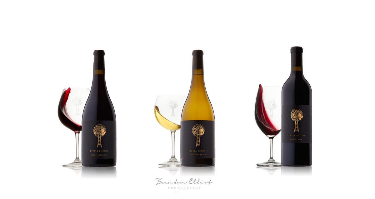 wine photography, winery photography, wine bottle, little engine